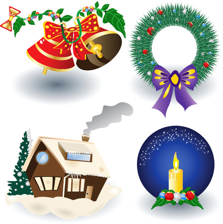 icons with decorations. Vector