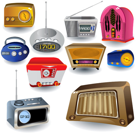Vector illustration of ten different high detailed radio icons Vector