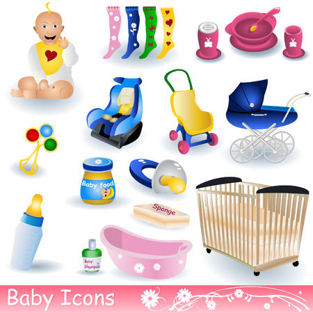 Baby Icons Illustration