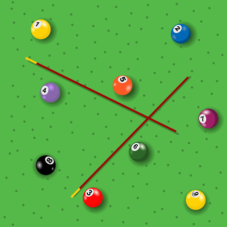 illustration of colored seamless billiard background. Vector
