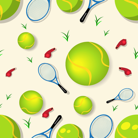 Vector illustration of tennis colored seamless background image Vector