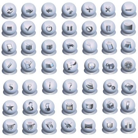 49 Grey interface icons Vector