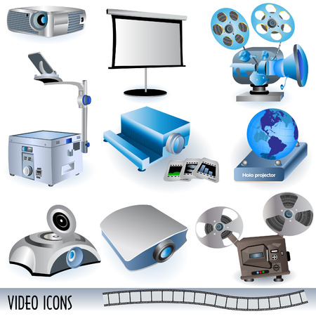 Video icons Stock Vector - 6367518