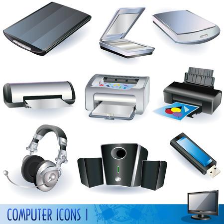 accessoire: Ensemble d'ic�nes d'ordinateur diff�rents - des unit�s peripherial