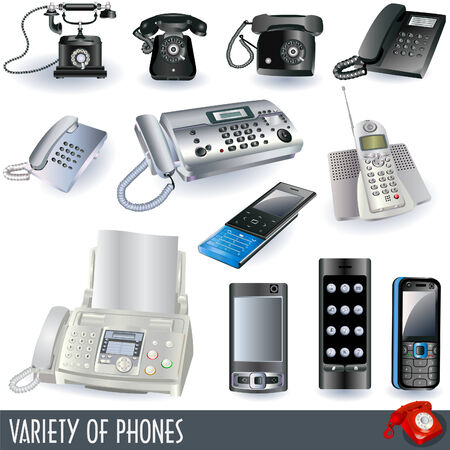 Collection of phones Illustration