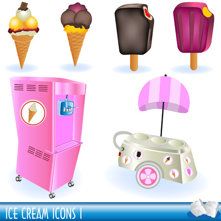 A collection of ice cream icons, part 1 Stock Vector - 7355308