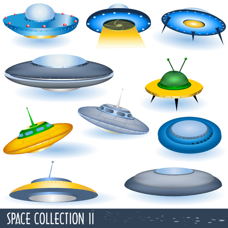 spacecraft: Space collection 2, flying saucers