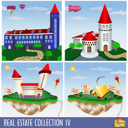 Real estate collection 4, different kind of buildings Stock Vector - 7610108
