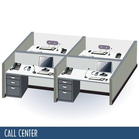 help desk: Call center Illustration