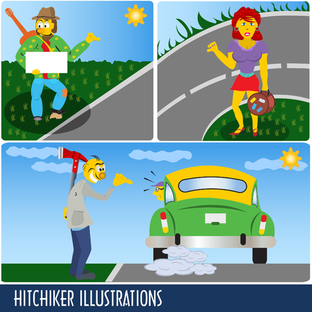 229 Hitchhiker Stock Illustrations, Cliparts And Royalty Free ...