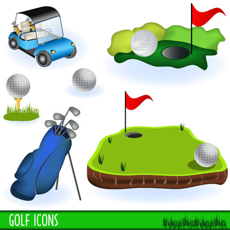 Golf icons Illustration