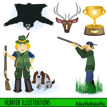 Hunter illustrations Vector