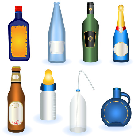 Collection of bottles Vector