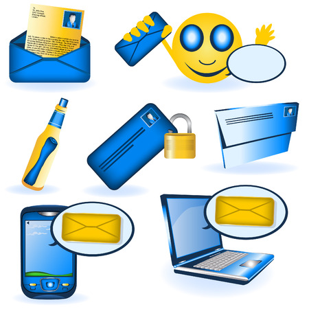 A collection of different message illustrations. Stock Vector - 8903515