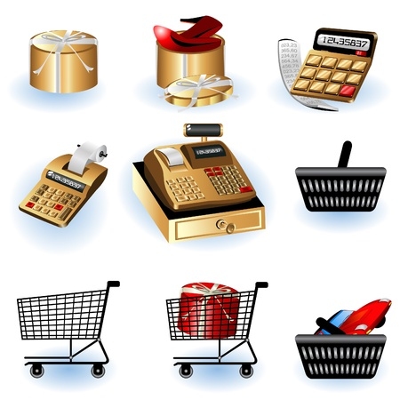A collection of different shopping icons - part 2 Vector