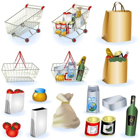 パート 1 のスーパー マーケットのアイコン - のコレクション