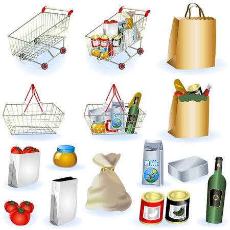 A collection of supermarket icons - part 1 Stock Vector - 9200040