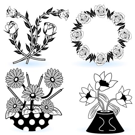 Collection of flowers Stock Vector - 9488217