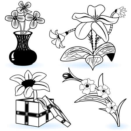 Collection of flowers Stock Vector - 9488228