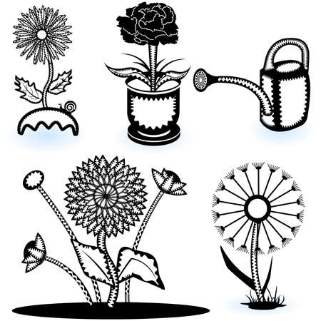Collection of flowers Stock Vector - 9488220