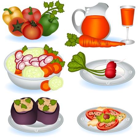 Vegetarian food 1 Stock Vector - 9488221