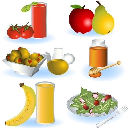 Vegetarian food 2 Stock Vector - 9488216