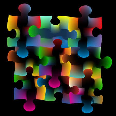 astral: Abstract illustration of colorful puzzle background. Illustration
