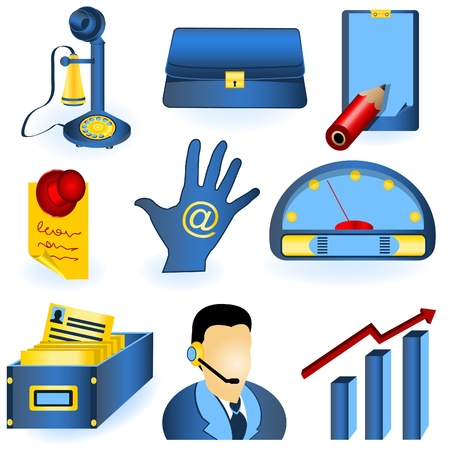 Collection of nine different icons for your company use. Vector