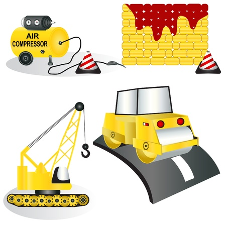 A collection of four different construction icons - part 2 Vector