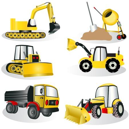 Une collection de six icônes de construction différents.