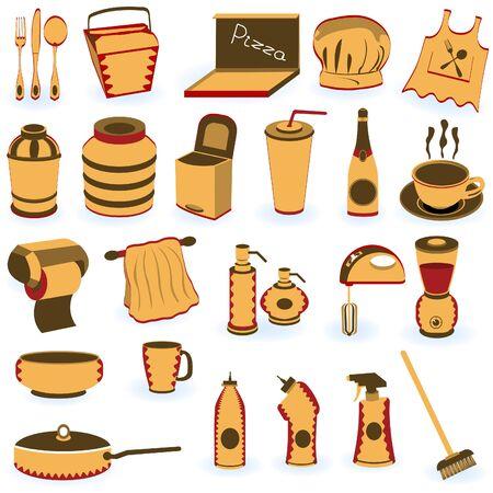 Restaurant supply icons Vector