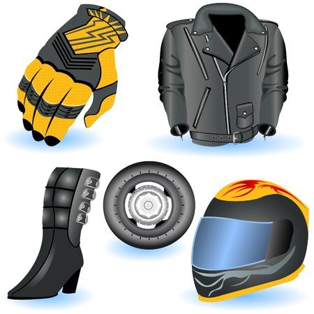 casco de moto: Motocicleta de iconos