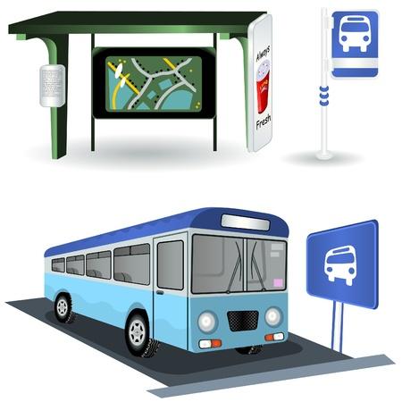 バスの駅の画像