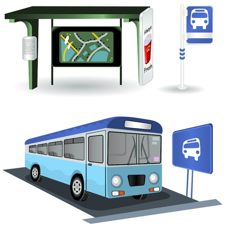 Bus Station Images Stock Vector - 10644941