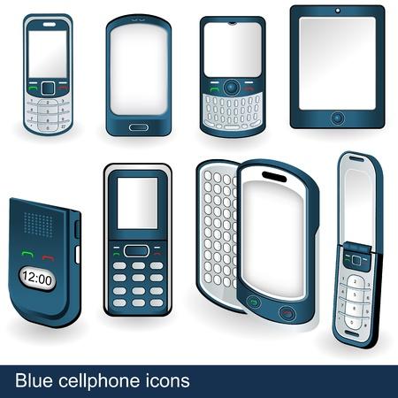 8 異なる携帯電話アイコン イラスト集