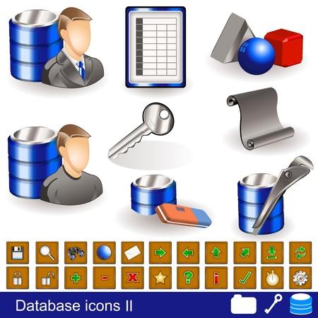 Een verzameling van verschillende database-iconen - deel 2 Vector Illustratie