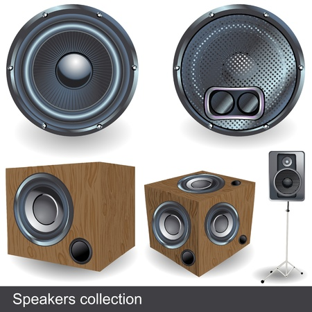Speaker collection illustration icons  Vector