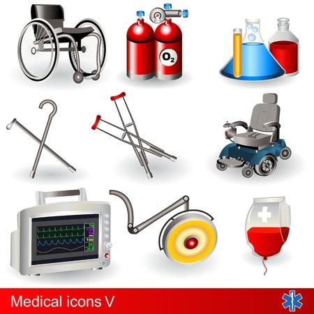 医療のアイコン - のコレクション第 5 部  イラスト・ベクター素材