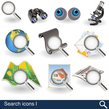 microscope lens: Different search icons - part 1