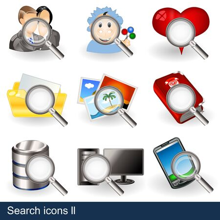 Collection of search icons - part 2 Stock Vector - 13300939