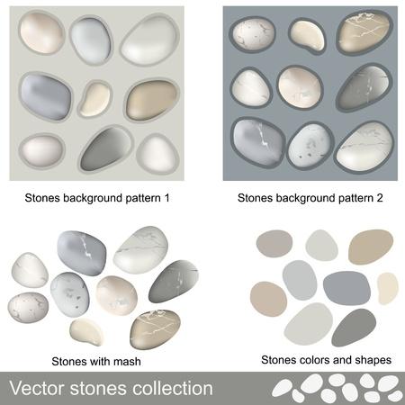 石の背景パターンを持つ別の石のコレクションです。