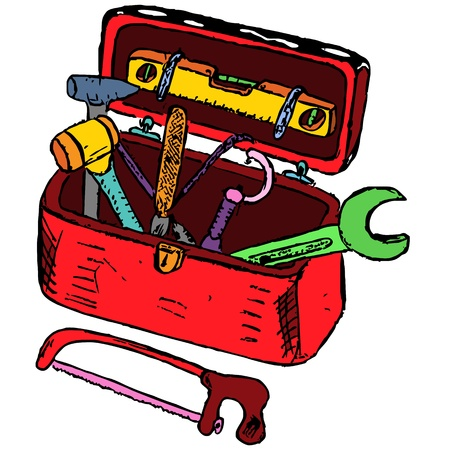 Doodle toolbox illustration made from sketch Stock Vector - 16798933