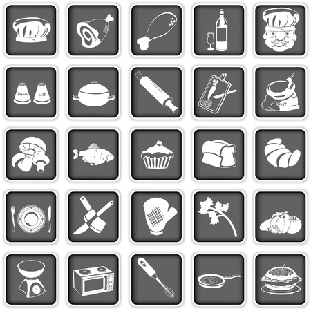 cooking squared icons Stock Vector - 17927192