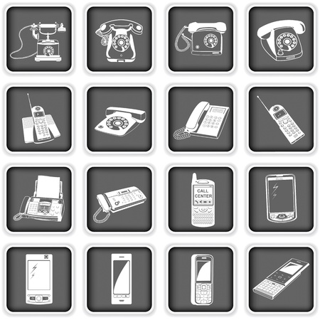 Collection of variety of phone icons  Stock Vector - 17927189