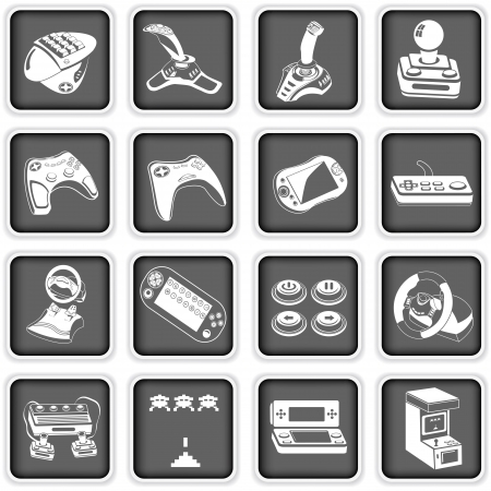 joystick: Collection of different computer icons - part  4