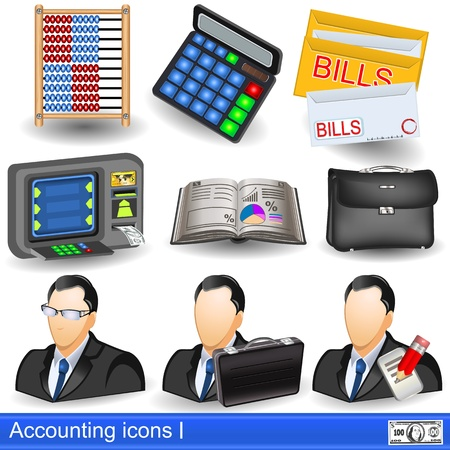 Collection of accounting icons Vector