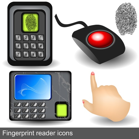 reader: fingerprint reader icons
