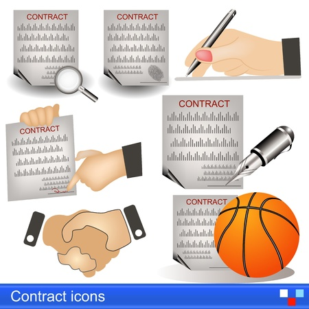 contract icons Stock Vector - 21653904