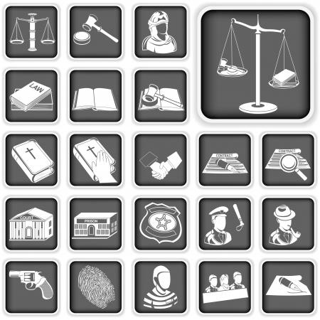 prosecutor: diritto e giustizia pulsante Set Vettoriali