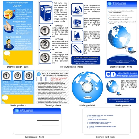 Online Business Template - Brochure Design, CD Cover Design And ...